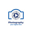 camera photography logo vector image