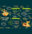 cartoon mexican food cafe or restaurant vector image vector image