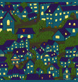 cartoon town seamless pattern small old houses vector image vector image