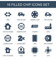 chip icons vector image vector image