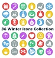 color winter circle icon collection vector image vector image