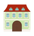 colored house two-storey residential building vector image vector image