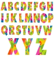Colorful Alphabet Letters vector image