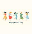 cute dancing women vector image