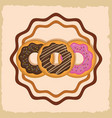 delicious sweet bakery vector image vector image