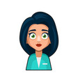 doctor and medical nurse avatar sign cute style vector image vector image