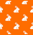 easter bunny pattern seamless vector image vector image