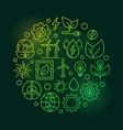 eco energy round green vector image