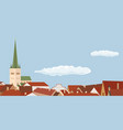 european architecture city vector image vector image