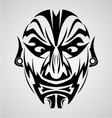 Face Tribal vector image vector image
