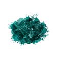Grunge green spot frame vector image