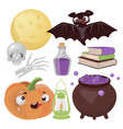 halloween magic hand drawn cartoon vector image vector image