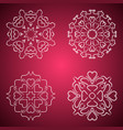 heart flakes pattern four item vector image vector image