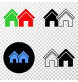 houses eps icon with contour version vector image