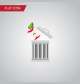 isolated trash flat icon bin element can vector image vector image