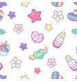 magic elements a unicorn seamless pattern vector image vector image