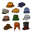 man hat fashion clothing headgear or male vector image