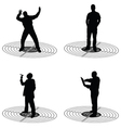 man standing on target silhouette vector image vector image