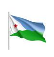 national flag of djibouti vector image vector image