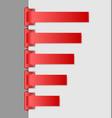 Navigation menu backgrounds vector image vector image