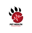 pet health for healthy pet vector image vector image