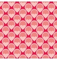 Pink tile background with hearts and polka dots vector image vector image
