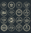 premium quality retro grunge badges collection vector image vector image