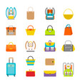 pupil s colorful backpacks set vector image