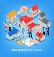 real estate agency isometric vector image