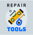 Repair tools level measuring tape icon creative