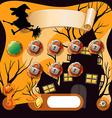 Screensaver of halloween theme game vector image vector image