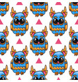 seamless pattern with cute owl cute vector image vector image