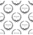 Seamless pattern with laurel wreaths vector image vector image