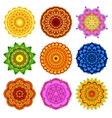 set mandala different colors vector image vector image