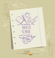 sheet of notebook and school pictures sketches vector image