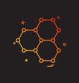 shell icon design vector image vector image