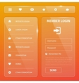 shiny glossy mobile web user interface vector image vector image