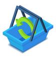 shopping basket icon isometric style vector image vector image