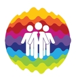 Social Network Rainbow Color Icon for Mobile vector image vector image