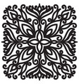 square solid mandala black graphic element on vector image vector image