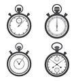 Stopwatches and a chronometer vector image vector image