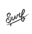 Surfing logo Surf calligraphy typography element vector image vector image