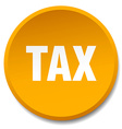 tax orange round flat isolated push button vector image vector image