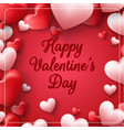 valentines day on red background