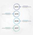 vertical timeline infographic design vector image