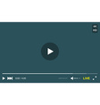 Video Player Window with Menu and Buttons Panel vector image vector image