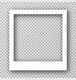 white photo frame for social media with vector image vector image