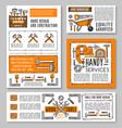 work tools home repair sketch posters vector image vector image