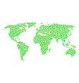 world map mosaic of dots vector image vector image