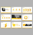 yellow abstract presentation templates vector image vector image